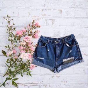 Gitano Vintage 80s Cut Off High Waist Mom Shorts
